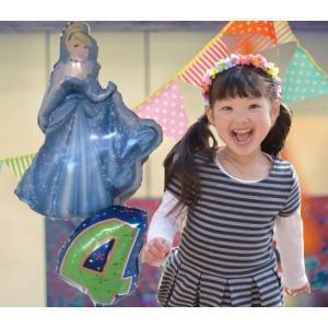 バルーン 誕生日 バルーン電報 バルーンギフト ディズニー シンデレラ 選べる年齢用数字バルーン付|heartwrap