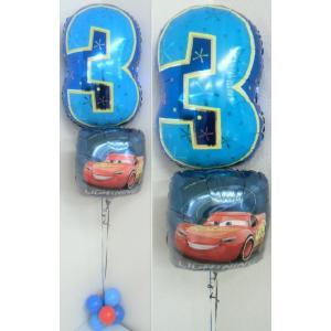バルーン 誕生日 ディズニー カーズ 数字 ヘリウムガス入り バルーンギフト バルーン電報|heartwrap
