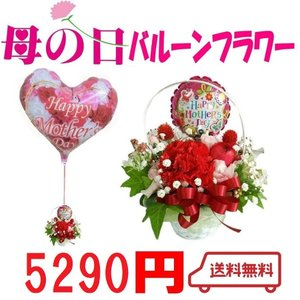 送料無料 遅れてゴメンネ 母の日  カーネーション ギフト バルーンフラワー プレゼント 風船|heartwrap