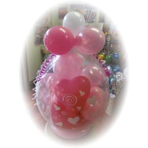 バルーンマーブル お誕生日 結婚式 お祝い バルーン電報|heartwrap