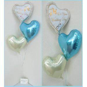 バルーン 結婚式 バルーン電報 送料無料 バルーンギフト Wedding Day|heartwrap