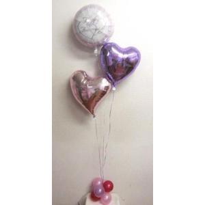 結婚式 バルーン電報 バルーンギフト バルーンブーケプチ Happy Anniversary|heartwrap