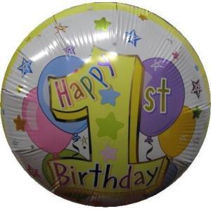 バースデー バルーン 1歳 誕生日 バルーン電報 バルーンギフト パステルファーストバースデー|heartwrap