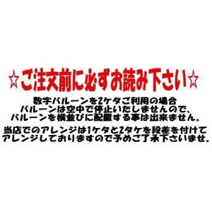 数字バルーン ナンバーバルーン ヘリウムガス入り 風船 誕生日 記念日 heartwrap 03