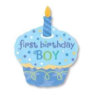 1歳 誕生日 バルーン  スウィートリトルカップケーキボーイ|heartwrap