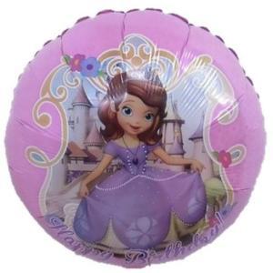 バルーン ディズニー プリンセス ソフィア バースデー 風船 誕生日 お祝 パーティー 装飾 ヘリウムガス入り|heartwrap
