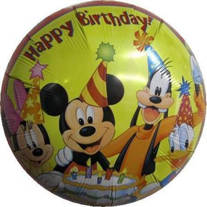 ディズニー バルーン 風船 HAPPY BIRTHDAY バースデー ディズニー  ヘリウムガス入り|heartwrap