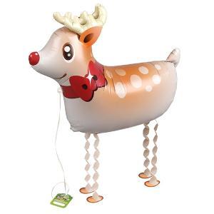 クリスマスバルーン トナカイお散歩エアウォーカーバルーン クリスマスバルーンギフト パーティーグッズ 風船 飾り付け|heartwrap