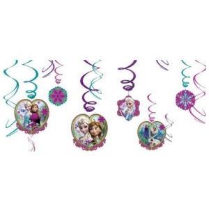 パーティーグッズ 誕生日 ディズニー アナと雪の女王 Swirl Decorations デコレーション|heartwrap
