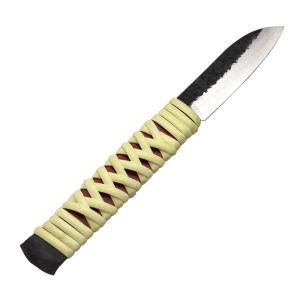 肥後守 ナイフ 籐巻きナイフ 丸型 ケース付|hearty-e