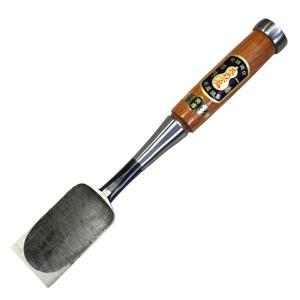 播州三木 岩崎のみ 左のぶ弘 赤樫 叩のみ(厚鑿) 寸六(48mm)|hearty-e