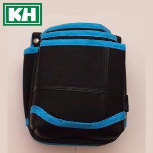 KH 武尊魂(タケルスピリッツ) 3段腰袋 黒×青 TK03K-B 小型腰袋
