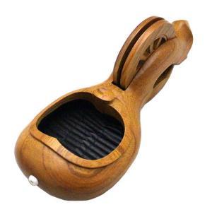 木製墨坪「新若葉」 240mm けやき 手彫り 坪静 たまき工房 大工道具|hearty-e