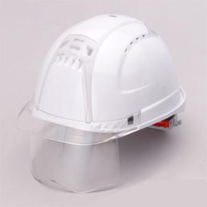 ヘルメット 391F-C-C(白)シールド付 スチロール入 トーヨー|hearty-e