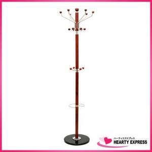 ヤマソロ マーブルベースポールハンガー 42-366 茶 傘立て 高さ約180cm|hearty-e