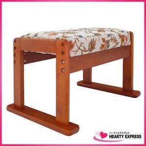 ヤマソロ 高座椅子対応オットマンスツール 83-842 花柄 高さ調節可能 hearty-e