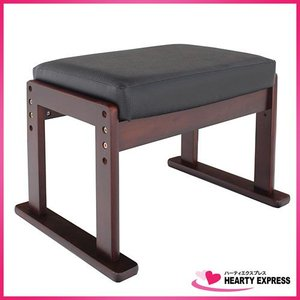 ヤマソロ 高座椅子対応オットマンスツール 83-843 黒 高さ調節可能 hearty-e