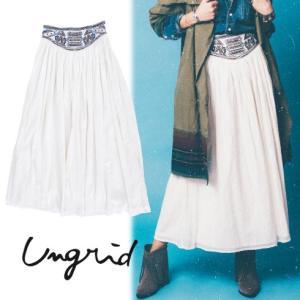 セール50%OFF Ungridアングリッド ウエスト刺繍マキシスカート  16春夏 111610852301|hearty-select