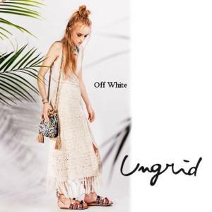 あすつくセール50%OFF Ungridアングリッド かぎ針ラップマキシスカート  16春夏. 111620809901|hearty-select