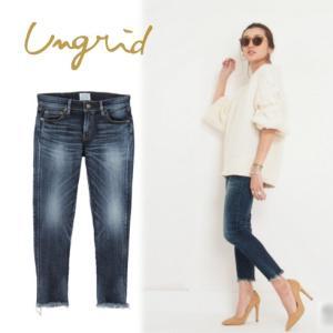 Ungrid(アングリッド)インディゴフレイドヘムストスリ  17春夏3【111611442101】|hearty-select