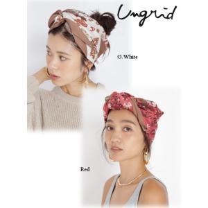 30%OFF Ungrid アングリッド オリジナル大判スカーフ  19春夏 111911011201マフラー・ストール 定価5900円 hearty-select