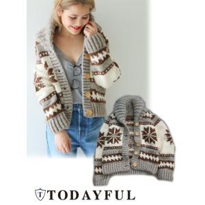 TODAYFUL トゥデイフル Cowichan Knit  17秋冬 11720202|hearty-select