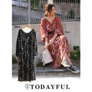 TODAYFUL(トゥデイフル)Chiffon Flower Dress  17秋冬【11720303】|hearty-select