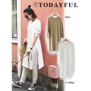TODAYFUL(トゥデイフル)Cotton Slit ワンピース  17秋冬.【11720322】|hearty-select