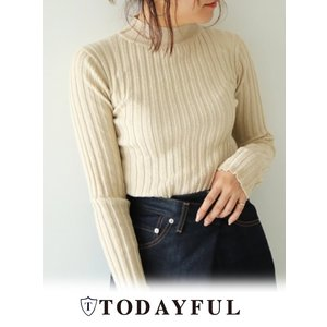 TODAYFUL(トゥデイフル)Sheer Turtle Knit  17秋冬【11720512】|hearty-select
