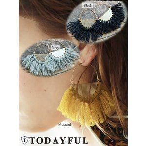 TODAYFUL(トゥデイフル)Wool Fringe Pierce  17秋冬【11720927】|hearty-select