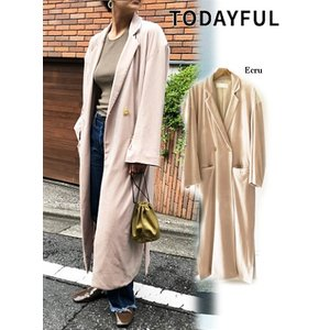50%OFF TODAYFUL トゥデイフル Velour Gown Coat  18秋冬. 11820015 ジャケット hearty-select