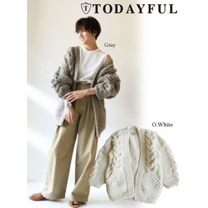 TODAYFUL  トゥデイフル Cable Handknit Cardigan 19秋冬予約2 11820518|hearty-select
