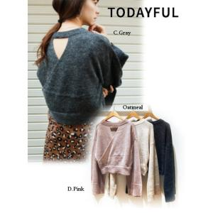 50%OFF TODAYFUL トゥデイフル Back Cachecoeur Knit  18秋冬. 11820539 ニットトップス hearty-select