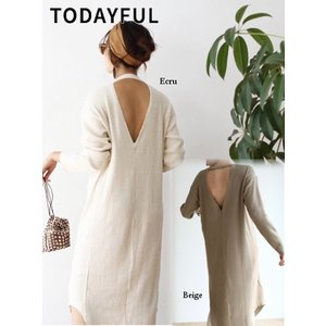 50%OFF TODAYFUL  トゥデイフル Thermal Maxi Onepiece  19春夏 11910309 マキシワンピース 定価 15500円|hearty-select