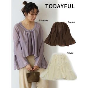50%OFF TODAYFUL (トゥデイフル)Cottonsilk Organdie Blouse  19春夏. 11910423シャツ・ブラウス 受注会 定価 14000円|hearty-select
