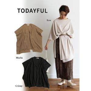 TODAYFUL トゥデイフル Linen Knit Poncho  19春夏 11910506  マフラー・ストール リネンニットポンチョ hearty-select
