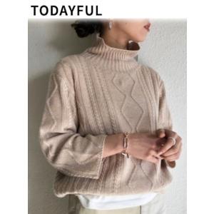 40%OFF TODAYFUL  トゥデイフル Highneck Aran Knit  19春夏 11910515 ニットトップス 定価 13000円|hearty-select