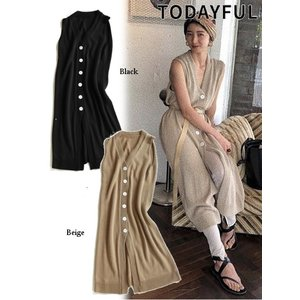 50%OFF TODAYFUL (トゥデイフル)Knit Long Vest  19春夏 11910528ベスト 定価 14000円|hearty-select