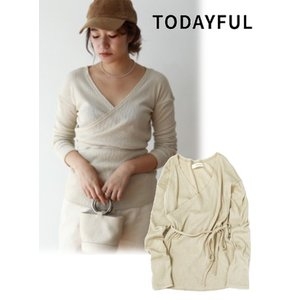 50%OFF TODAYFUL  トゥデイフル Cottonlinen Cache-coeur Tops  19春夏 11910606 カットソー 定価 12000円|hearty-select