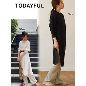 TODAYFUL  トゥデイフル Doubleface Slit Long T-shirts  19春夏. 11910632Tシャツ 受注会|hearty-select