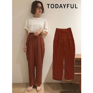 TODAYFUL(トゥデイフル)Crape Rough Pants  19春夏. 11910724パンツ|hearty-select