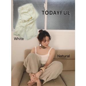 TODAYFUL(トゥデイフル)Waistgather Linen Pants  19春夏. 11910731パンツ|hearty-select