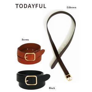 TODAYFUL トゥデイフル Slim Leather Belt  19春夏 11911051 その他 hearty-select