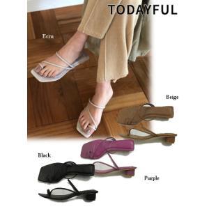 TODAYFUL (トゥデイフル)Squaretoe Strap Sandals  19春夏. 11911064サンダル|hearty-select