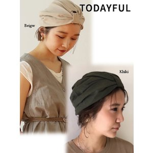 TODAYFUL トゥデイフル Gather Turban Cap  19春夏. 11911071 帽子|hearty-select