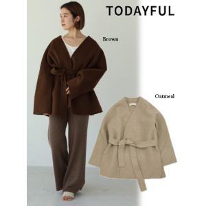 代引き不可  TODAYFUL  トゥデイフル Wool Short Gown  19秋冬予約 11920001|hearty-select