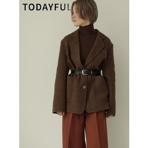 TODAYFUL  トゥデイフル Wool Check Jacket  19秋冬.予約 11920104|hearty-select