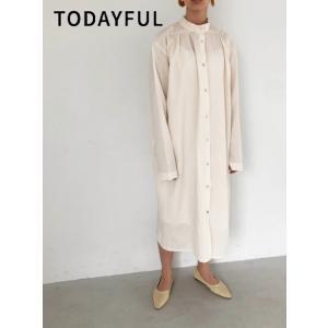 代引き不可  TODAYFUL  トゥデイフル Gather Shirts Dress  19秋冬予約 11920303|hearty-select