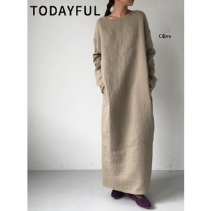 TODAYFUL  トゥデイフル Bonding Cocoon Dress  19秋冬.予約 11920326 マキシワンピース ボンディングコクーンドレス|hearty-select
