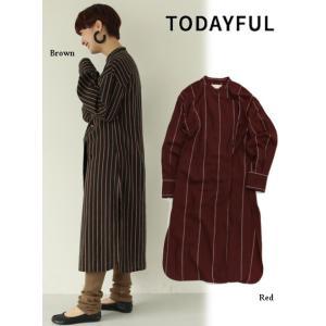 TODAYFUL  トゥデイフル Asymmetry Stripe Dress  19秋冬.予約 11920328|hearty-select